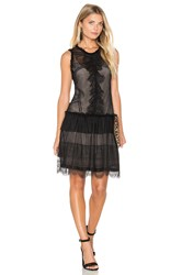 Marissa Webb Avery Burnout Dress Black
