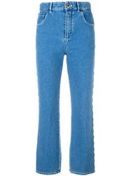 Chloe Scalloped Jeans Blue