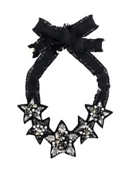 Red Valentino Multi Star Necklace Black