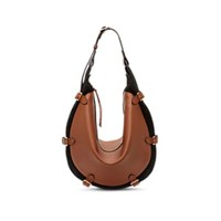 Altuzarra Play Small Leather And Suede Hobo Bag Drk Brn Blk
