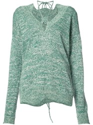 Rosie Assoulin Drawstring Detail Jumper Green