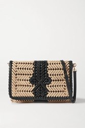 Anya Hindmarch Neeson Woven Leather Trimmed Rope Shoulder Bag Neutral