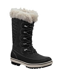 Helly Hansen Women's Garibaldi Faux Fur Lined Mid Calf Snow Boots Black