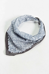 Urban Outfitters Illustrated Leaf Bandana Grey