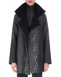 Akris Way Print Raglan Sleeve Coat Women's
