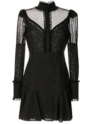 Alexis Madilyn Lace Panel Dress Black