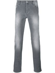 Kenzo Faded Slim Fit Jeans Grey