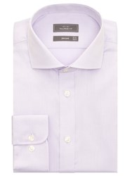 John Lewis Non Iron Twill Tailored Fit Shirt Lilac