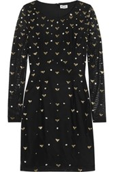 Alice By Temperley Sapphire Embellished Stretch Tulle Dress Black