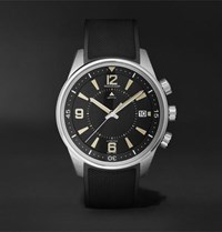 Jaeger Lecoultre Limited Edition Polaris Memovox Automatic 42Mm Stainless Steel And Rubber Watch Ref No. 9038670 Black