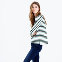 J.Crew Midweight Colorful Striped Boatneck T Shirt