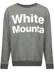 White Mountaineering Logo Print Sweatshirt Grey