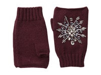 San Diego Hat Company Kng3397 Fingerless Gloves With Handstitched Faux Gems Port Extreme Cold Weather Gloves Burgundy