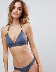 Boux Avenue Athens Triangle Bikini Top Grey