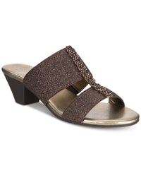 Karen Scott Zaila Slip On Sandals Bronze