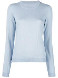 Maison Martin Margiela Elbow Patch Jumper Blue