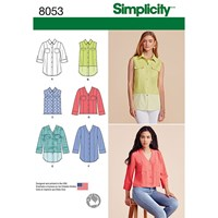 Simplicity Women's Tops And Blouses Sewing Pattern 8053