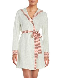 Splendid Textured Hooded Robe Stripe