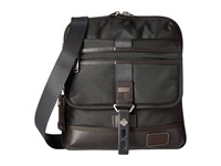 Tumi Alpha Bravo Annapolis Zip Flap Hickory Messenger Bags Brown