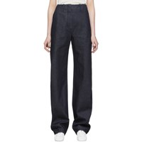 Christophe Lemaire Ssense Exclusive Navy Large Twisted Jeans