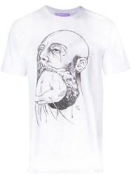 Private Policy Graphic T Shirt White