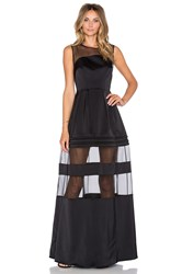 Alexis Andromeda Sheer Panel Gown Black