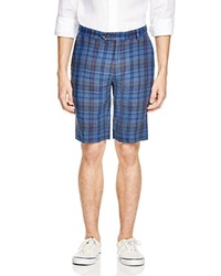 Brooks Brothers Plaid Linen Bermuda Shorts Blue Plaid