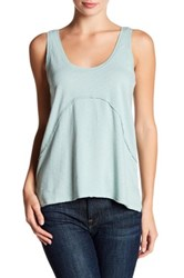 Melrose And Market Pointelle Textured Cross Detail Tank Blue