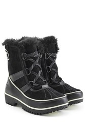Sorel Tivoli Ii Suede And Rubber Short Boots Black