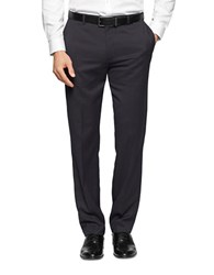 Calvin Klein Twill Striped Dress Pants Navy