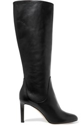 Jimmy Choo Tempe 85 Leather Knee Boots Black