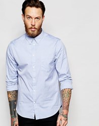 Paul Smith Jeans Oxford Shirt In Tailored Slim Fit Blue