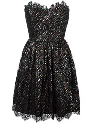 Saint Laurent Strapless Cocktail Dress Black