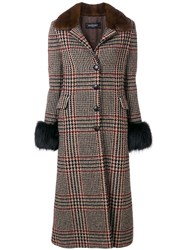 Simonetta Ravizza Single Breasted Long Coat Brown