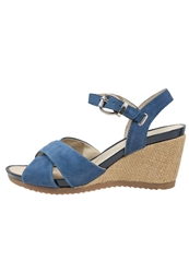 Pier One Wedge Sandals Blue