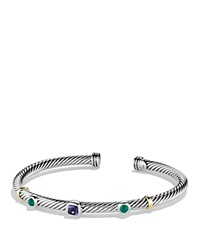 David Yurman Renaissance Bracelet With Iolite And Gold Silver Yellow Gold