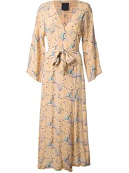 Biba Kimono Sleeve Dressing Gown Yellow Orange