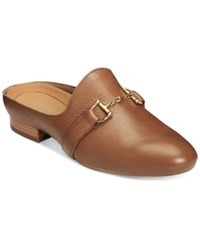 Aerosoles Out Of Sight Mules Women's Shoes Dark Tan Leather