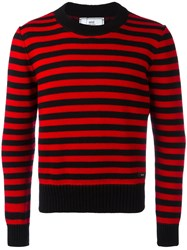 Ami Alexandre Mattiussi Striped Sweater Men Wool Xs Black
