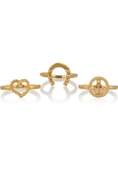 Giles And Brother Set Of Three Gold Tone Rings