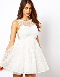 True Decadence Prom Dress In Layered Lace White