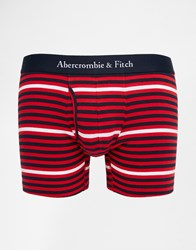 Abercrombie And Fitch Stripe Trunks Red