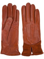 Paul Smith Stitching Detail Gloves Brown