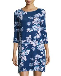 Yumi Kim Floral Print Jersey Shift Dress Navy