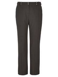 Viyella Windowpane Checked Wide Trousers Black