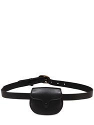 Polo Ralph Lauren Leather Belt Bag Black