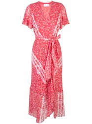 Tanya Taylor New Blaire Wrap Dress Red