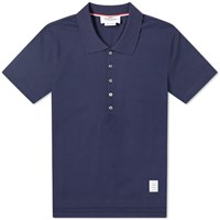 Thom Browne Relaxed Fit Polo Blue