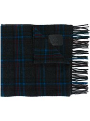 Dsquared2 Check Pattern Scarf Black