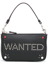Coach 'Wanted' Studded Clutch Black